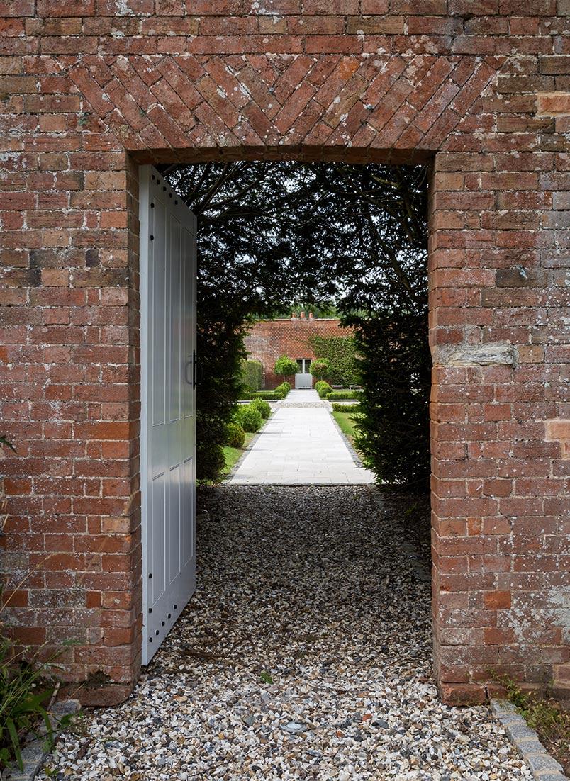Walled garden gate