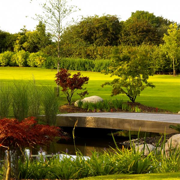 Countryside family home garden
