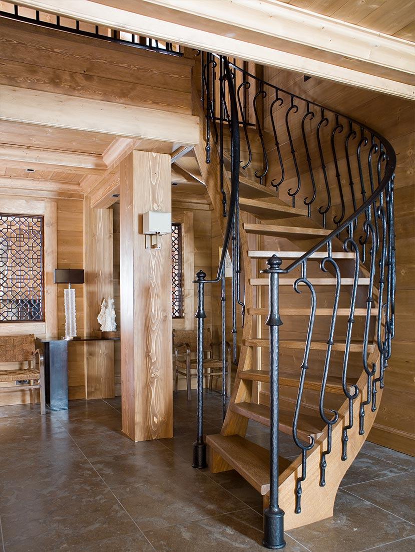 Ski Chalet Staircase