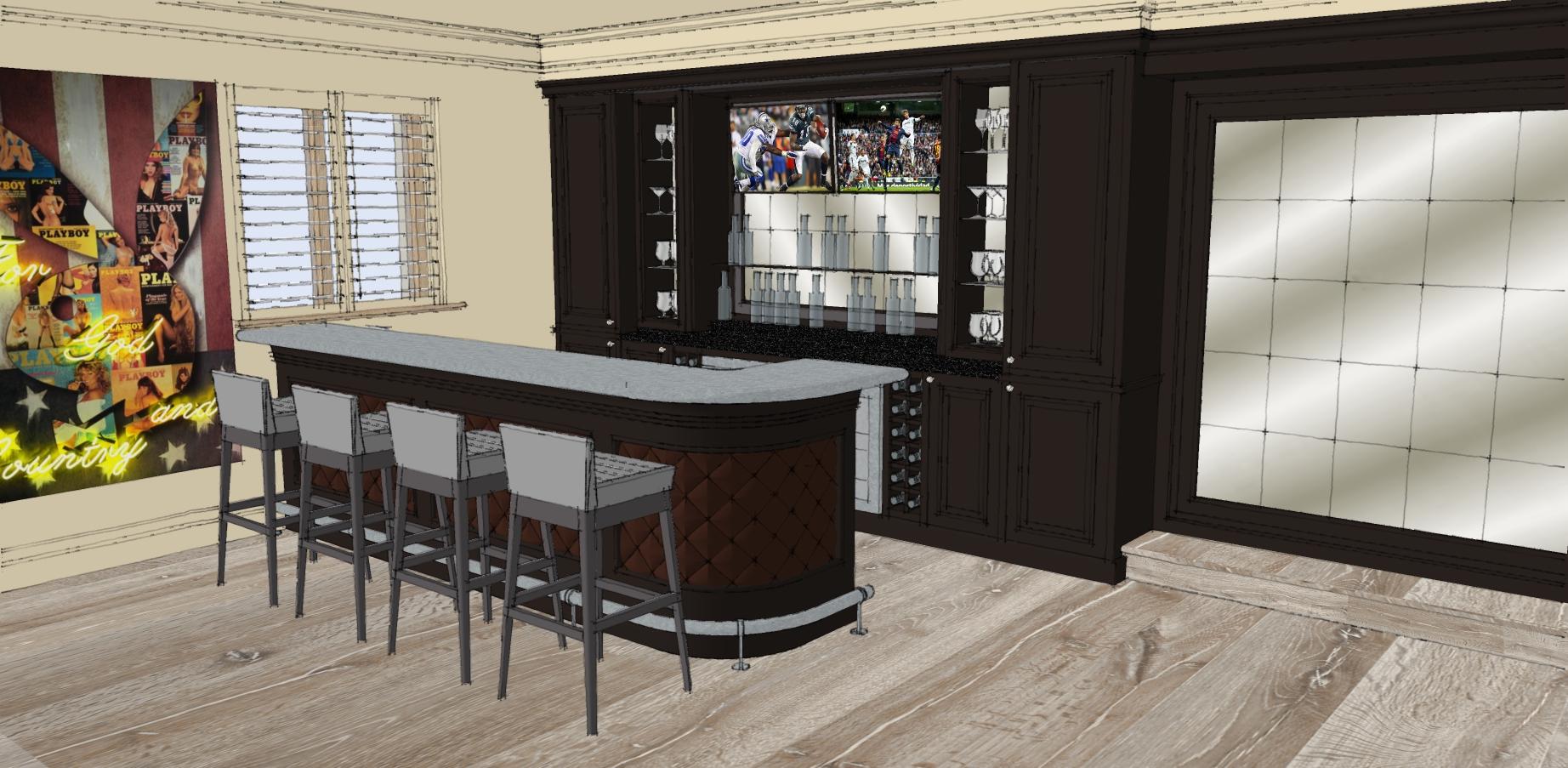 Bespoke Bar design render
